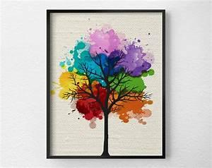 Tree wall art modern home decor print