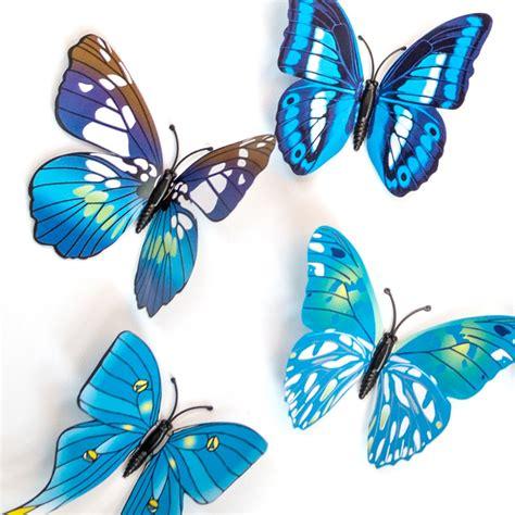 3d schmetterling blaue 3d schmetterlinge als besondere wanddekoration wall de