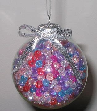 plastic christmas ball ornament crafts iridescent ornament the artful crafter