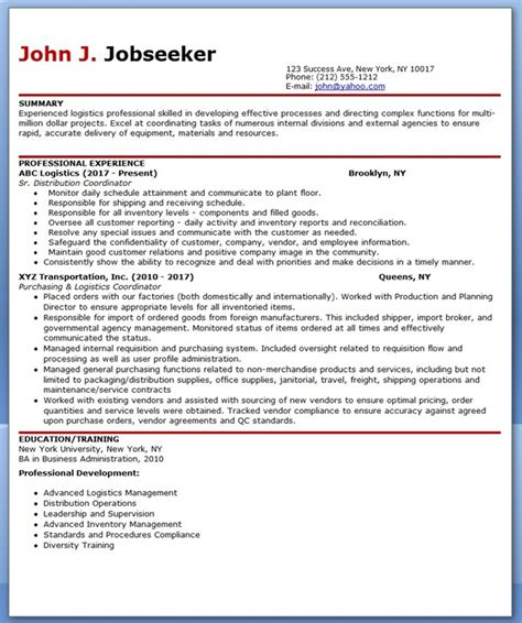 Professional Resume Format 2014 by Logistics Professional Resume Format Resume Downloads