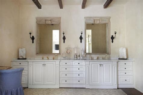 Greek Key Wood Vanity Mirrors
