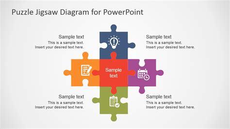 flat puzzle jigsaw powerpoint diagram slidemodel
