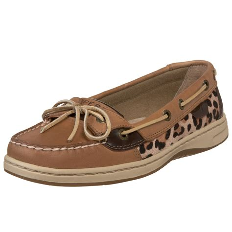 Sperry Topsider Boat Shoes Angelfish In Brown (leopard