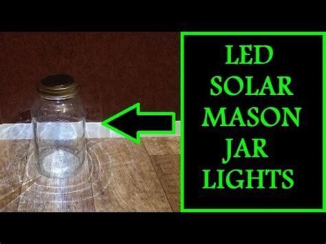 diy jar led solar lights easy to do