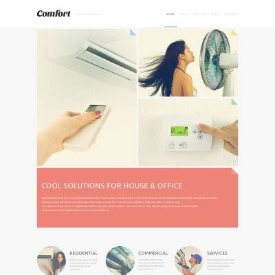 air joomlsa template air conditioning templates templatemonster