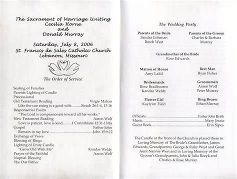 styles ideas captivating wedding program templates