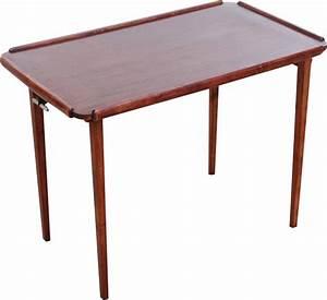 Table Pliante D Appoint : table d 39 appoint pliante scandinave en acajou 1950 ~ Melissatoandfro.com Idées de Décoration