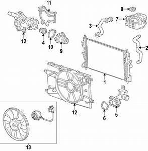 Chevrolet Cruze Engine Cooling Fan Motor