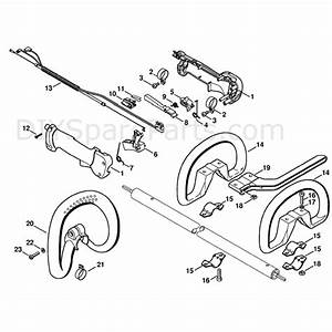 Stihl Fs 100 Brushcutter  Fs 100 Rx  Parts Diagram  Handle