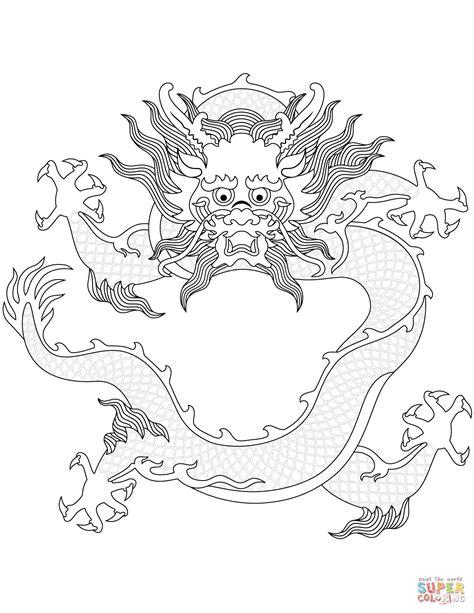 Ausmalbild Chinesischer Drachen Ausmalbilder Kostenlos