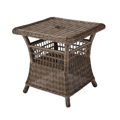 hton bay grey patio umbrella side table 55