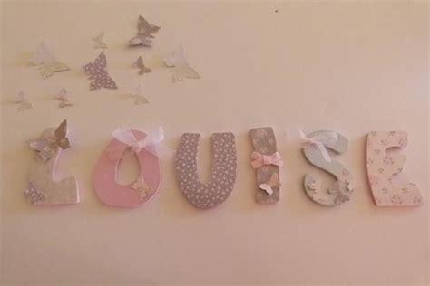 gamme lettres prenom bois medium en 7 5cm theme papillons
