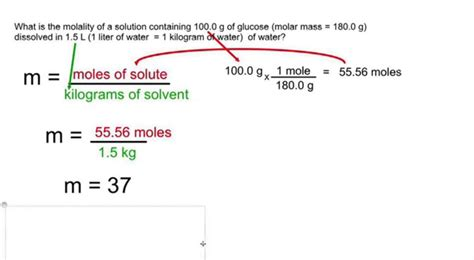 Calculate Molality And Convert Mass To Moles And Volume To Kg On Vimeo