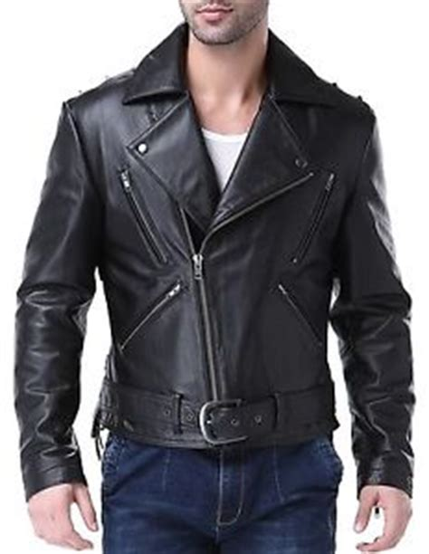 rugged leather jacket airborne leathers mens motorcycle rugged cow leather