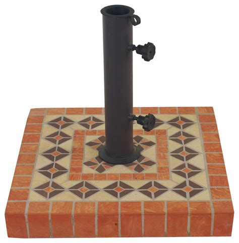 outdoor interiors terra cotta heavy duty square umbrella