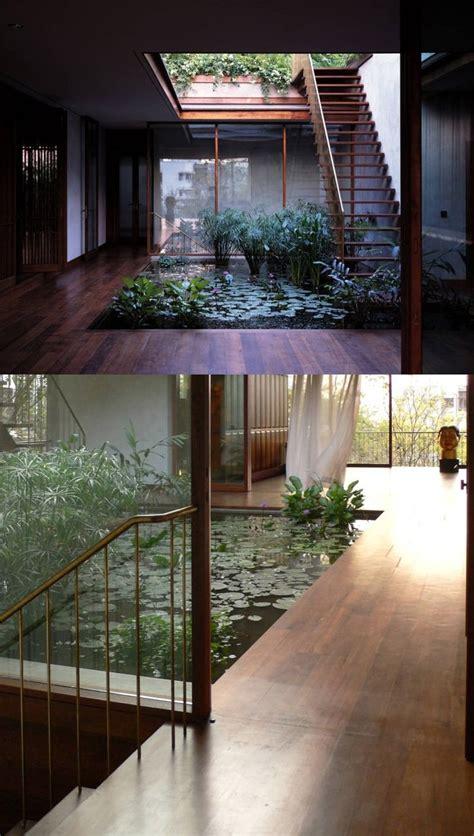 indoor ponds pond garden water homes internal outdoor fish courtyard mumbai koi studio gardens wood surrounded room floor japanese yoga