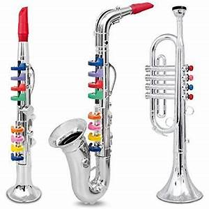 KIDS MUSICAL TOY Instrument 3pcs Clarinet Saxophone ...