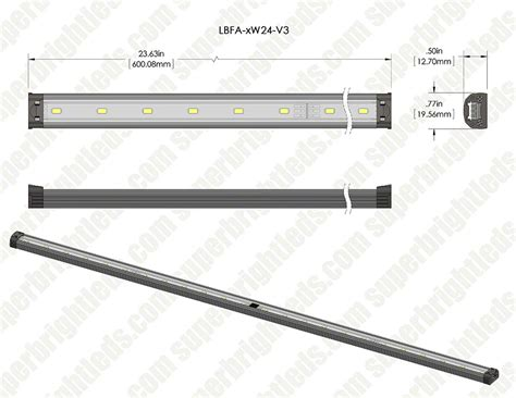 linkable led linear light bar fixture 1 080 lumens