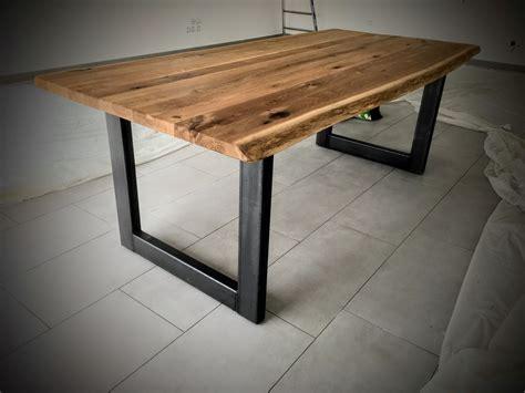 table scandinave pied u en acier bois m 233 tal design