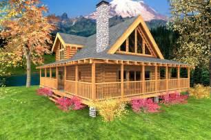 wrap around porch houses for sale mountain crest log home custom timber log homes