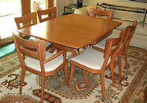 heywood wakefield mid century dining set atomic table 6