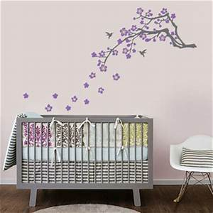 cherry blossom branch vinyl wall decal by in an instant With kitchen cabinets lowes with japanese cherry blossom wall art sticker