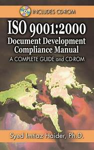 Iso 9001  2000 Document Development Compliance Manual  A
