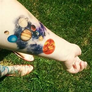 65+ Facinating Solar System Tattoo Designs - Their Origin ...