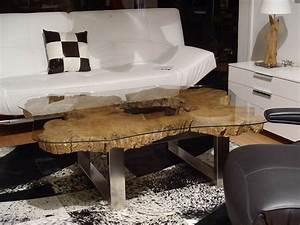Table Basse Tronc : table basse illusion metal boutique penone design ~ Teatrodelosmanantiales.com Idées de Décoration