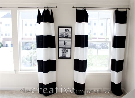 Black And White Horizontal Striped Curtains by The Creative Imperative Black And White Horizontal