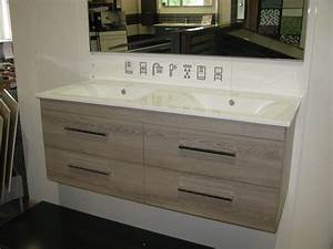 Meuble salle de bain Italien double vasque céramique Meuble salle de bains moderne meuble