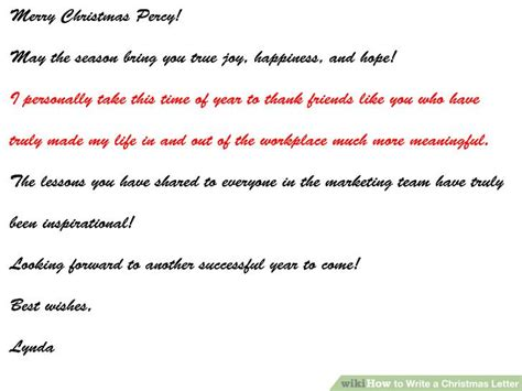 write  christmas letter  steps  pictures