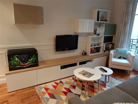 besta bureau meuble tv sur mesure en customisant des caissons besta