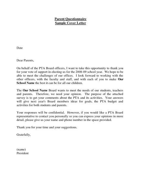 Survey Cover Letter by Cover Letter