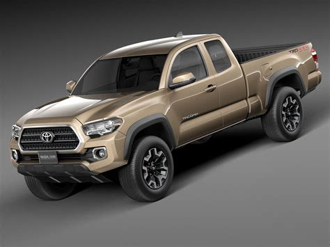 Toyota Tacoma Road by Toyota Tacoma Trd Road 2016 3d Model Max Obj 3ds