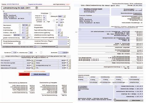 selbstrechnendes formular zur gehaltsabrechnung