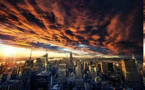 wallpaper landscape sunset city cityscape night