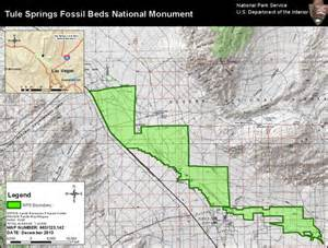 tule springs fossil beds national monument map