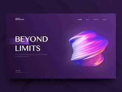Fluid Gradient Dribbble Website Inspiration Graphic Purple