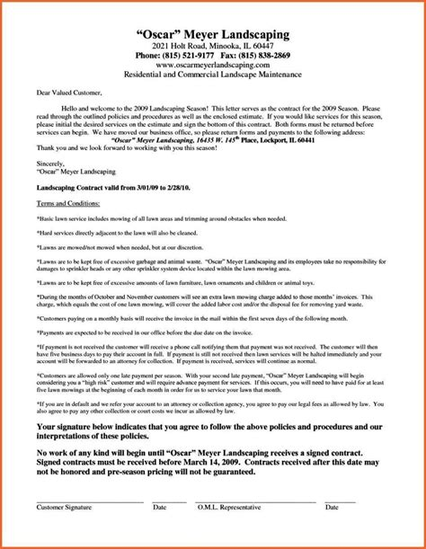 lawn mowing contract template sampletemplatess