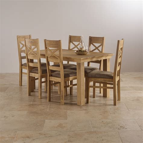 oak dining table chairs costal extending dining set in oak table 6 chairs