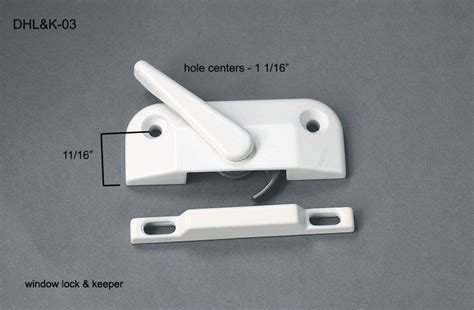 dhlk  double hung locks keepers   hole center aa window parts hardware