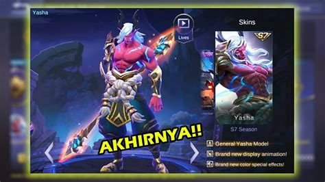 New Skin Season 7 Moskov ( Yasha ) !! Mobile Legend