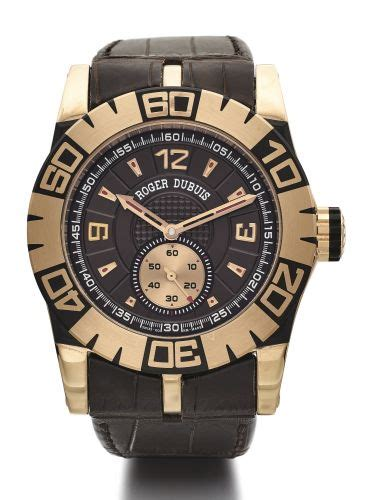 Roger Dubuis Matic Brown Rubber roger dubuis easy diver second prices