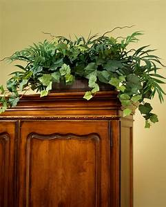 Palm & Ivy Armoire Silk Foliage Planter for Shelf and