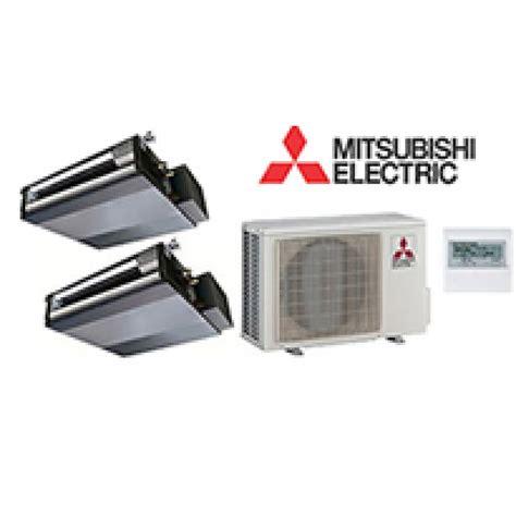Mitsubishi Mr Slim 2 Zone Ducted Heat Pump With 9k + 12k