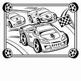 Race Coloring Printable Cars Craft Cakes Crafts sketch template