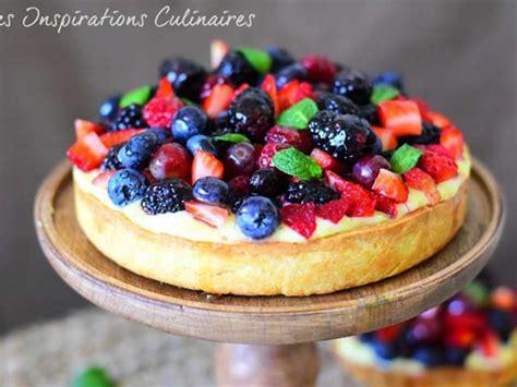recettes de tarte aux fruits  creme patissiere