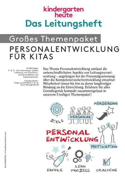 personalentwicklung fuer kitas themenpaket kindergarten