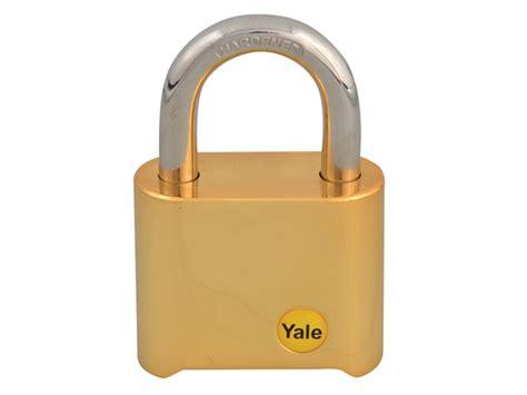 yale  mm brass combination padlock